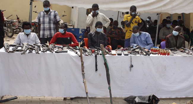 The Nigerian police paraded 48 suspects on February 25, 2021.