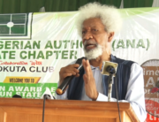 Nobel laureate Wole Soyinka delivered a speech in Abeokuta, Ogun State, on February 27, 2021.