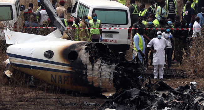 Seven Killed As Military Aircraft Crashes In Abuja Airport