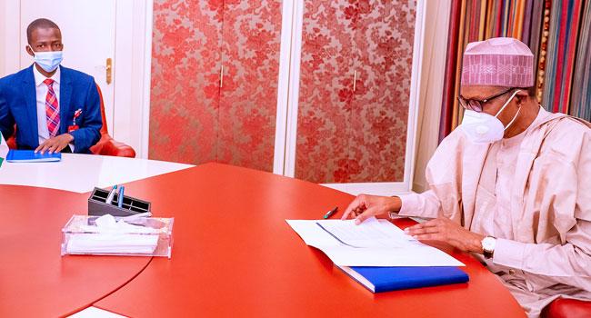 Buhari Meets Newly Confirmed EFCC Chairman