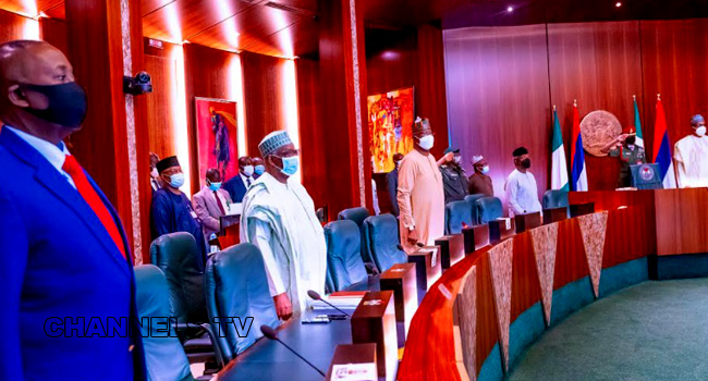 PHOTOS: FEC Observes One Minute Silence For Ex-Kwara State Military Administrator