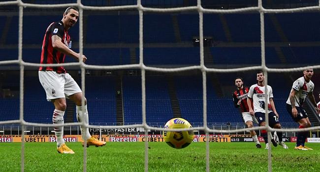 AC Milan's Ibrahimovic Scores 500th Club Goal