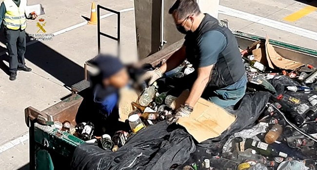 Migrant Found Hiding In Toxic Waste In Spain