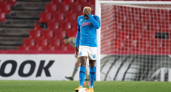 Victor Osimhen is expected back in Naples on Monday evening despite the Napoli forward having to be hospitalised