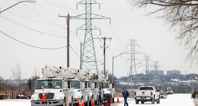 Millions of Americans were struggling without electricity Wednesday