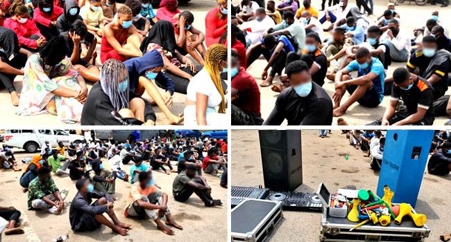 Police Arrest 113 Funseekers At Ajao Estate, Victoria Island Nightclubs