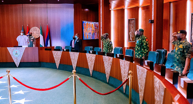 Insecurity: President Buhari Meets With National Security Council