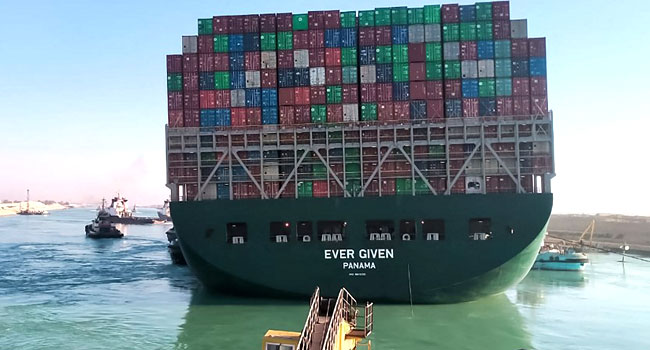 Ship Stuck In Suez Canal Turned 80% In Right Direction – Officials