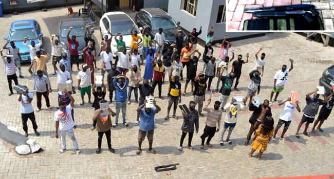EFCC Arrests 57 Internet Fraud Suspects, Recovers Two Pump Action Rifles In Ogun