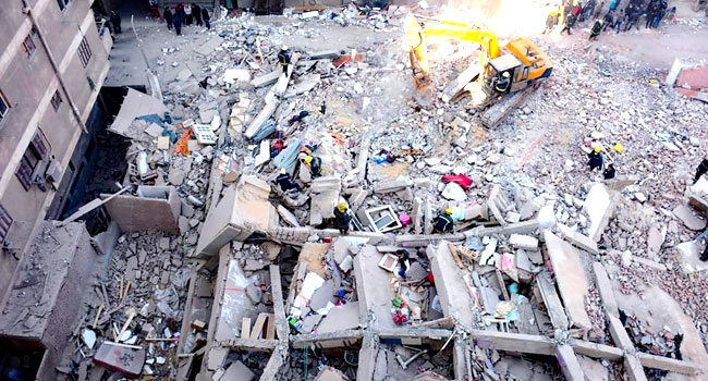 Five Dead, Over 20 Injured In Egypt Building Collapse