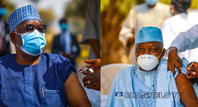 Buhari's Chief Of Staff, Garba Shehu, Others Take COVID-19 Vaccination