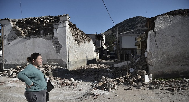 Hundreds Of Houses Destroyed By Twin Earthquakes In Greece