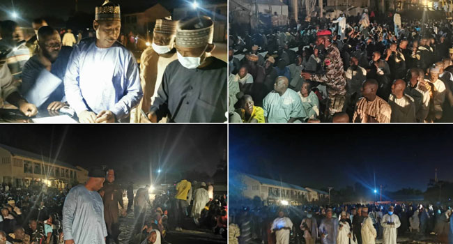 Zulum Storms IDP Camp At Midnight, Discovers 650 'Ghost Households'