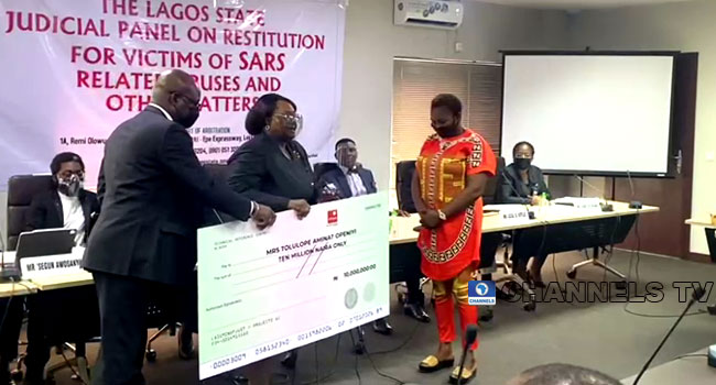 #EndSARS Aftermath: Four Petitioners Get N16.25m Cheques At Lagos Panel