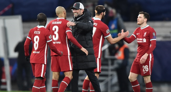 Liverpool eased past RB Leipzig into the Champions League quarter-finals with a 2-0 win
