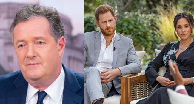 Piers Morgan Tears Into Prince Harry, Meghan Expository Interview