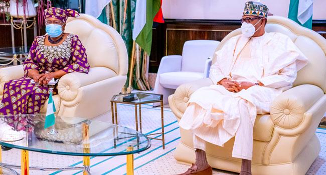 WTO DG Okonjo-Iweala Meets With President Buhari