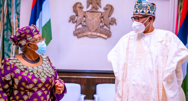Buhari To Okonjo-Iweala: We Are Happy You Made It, But You Also Earned It