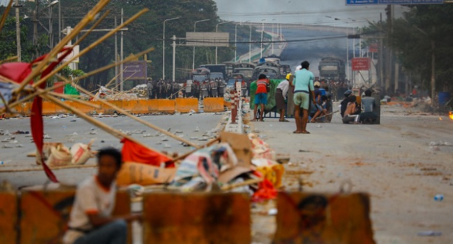 18 Killed in Myanmar's Anti-Coup Protests