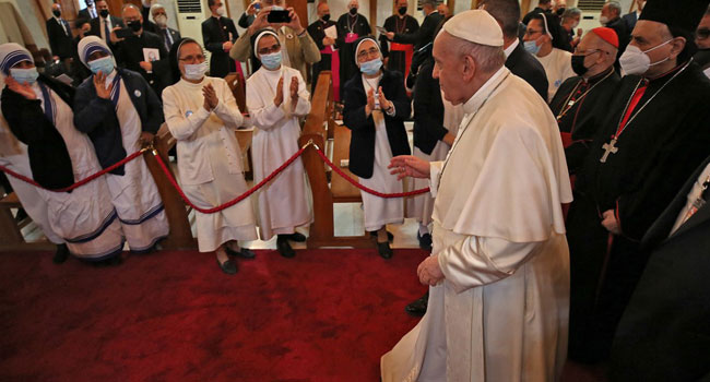Pope Francis Prays For 'Victims Of War' In Iraq's Mosul