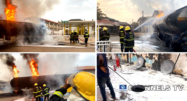 Tanker Explosion: How Firefighters Battled Inferno In Pictures