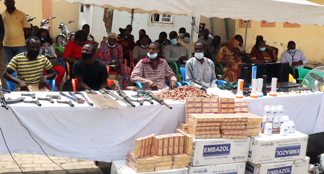 Police Arrest 50 Suspects, Recover 10 Firearms, Others