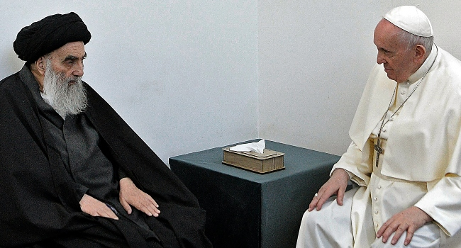 Pope Francis Meets Top Iraq Shiite Cleric Grand Ayatollah Sistani