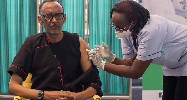 Rwanda's Kagame First East African Leader To Take COVID-19 Jab
