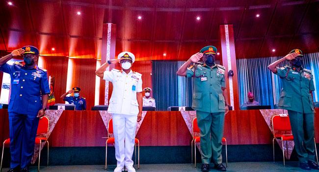 Service Chiefs Honour Senate's Invite, Briefs Lawmakers On Security Crisis