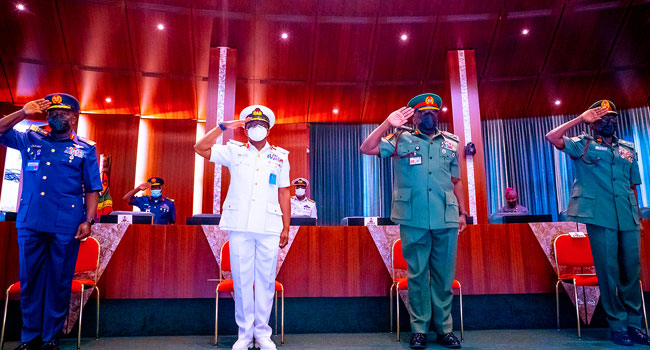 Buhari Decorates New Service Chiefs – Channels Television