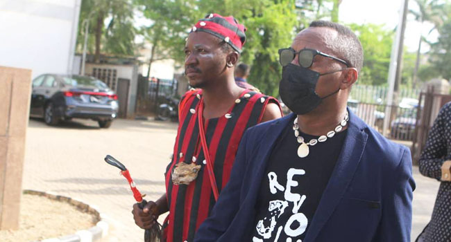 PHOTOS: Sowore In Court With 'Spiritual Adviser'