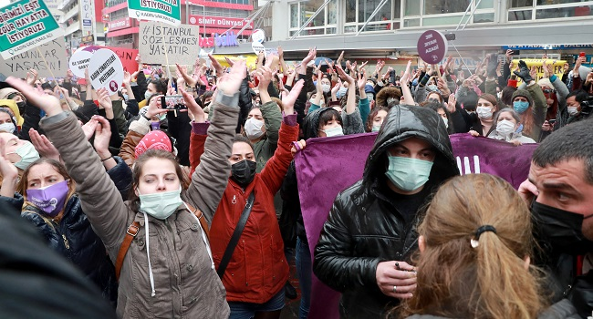 Thousands Protest Turkey's Withdrawal From Women's Treaty