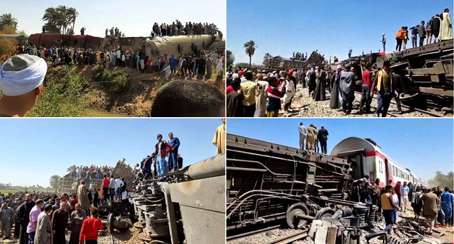 32 Killed As Passenger Trains Collide In Egypt