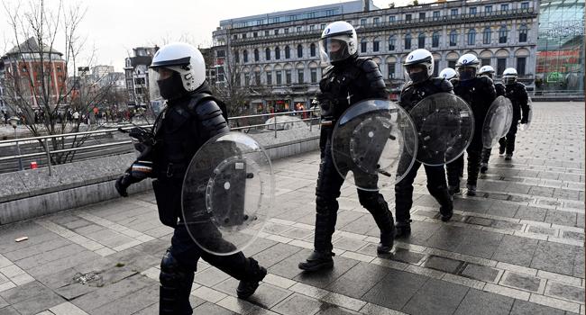 Violence Breaks Out In 'Black Lives Matter' Protest Held In Belgium