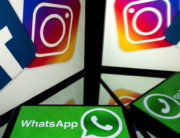 This file photo taken on October 5, 2020, shows logos of US social networks Facebook, Instagram and mobile messaging service WhatsApp on the screens of a smartphone and a tablet in Toulouse, southwestern France. Lionel BONAVENTURE / AFP