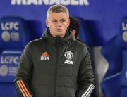 Manchester United's Norwegian manager Ole Gunnar Solskjaer gestures on the touchline during the English FA Cup quarter-final football match between Leicester City and Manchester United at King Power Stadium in Leicester, central England on March 21, 2021. Leicester won the game 3-1. Oli SCARFF / POOL / AFP