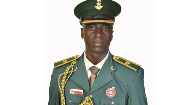 Commanding officer Bedan Ishaya was buried in Maiduguri on March 6, 2021.