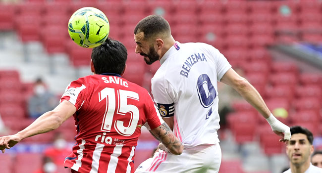 Atletico Denied Derby Victory By Late Benzema Equaliser