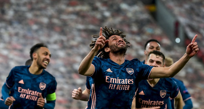 Europa League: Egypt's Elneny On Target As Arsenal Crush Olympiacos