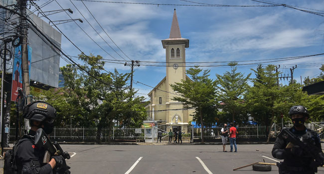 Explosion outside cathedral in Indonesia