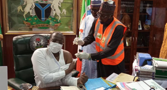 Matawalle Receives COVID-19 Vaccine, Says No Side Effect