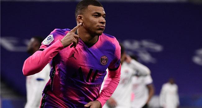 PSG Beat Lyon To Go Top As Mbappe Scores 100th Ligue 1 Goal
