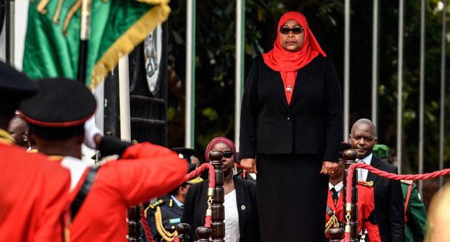 Tanzania Swears In Samia Suluhu As First Female President