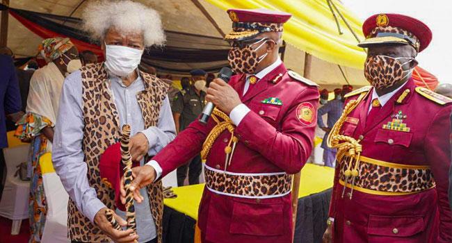 Ogun Launches Amotekun Corps, Decorates Wole Soyinka As Super Marshal