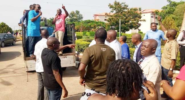 Ekiti Varsity Workers Protest Over Unpaid Allowances