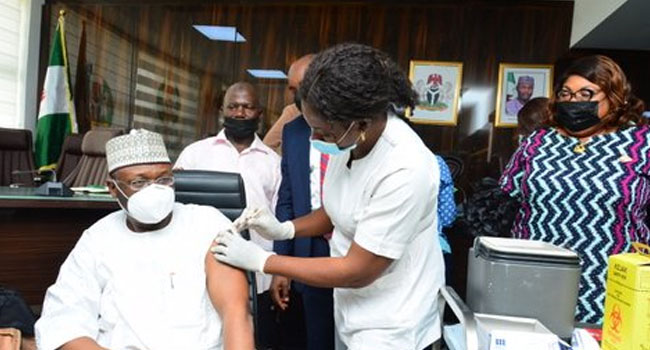 INEC Chairman Takes First Jab Of AstraZeneca COVID-19 Vaccine