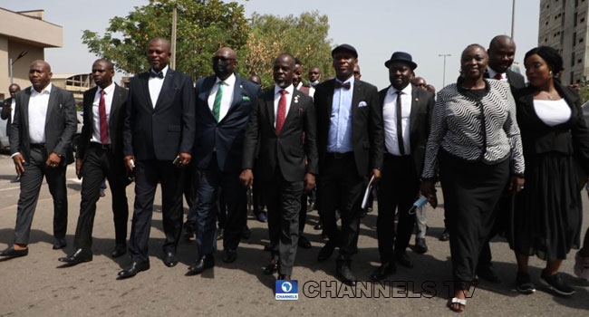 Lawyers March To NASS, As Judiciary Workers Begin Nationwide Protest