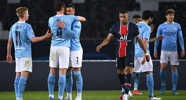 Champions League: Man City Fight Back To Beat PSG In Semi-Final First Leg