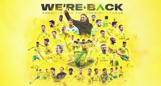 Norwich City Promoted To The Premier League