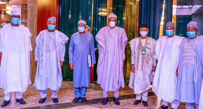 PHOTOS: Buhari, Northern Governors Meet Over Insecurity
